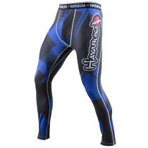 Metaru 47 Silver Compression Pants Black/Blue