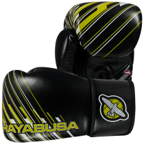 SALE - Ikusa Charged 14oz Gloves - Black/Lime Green
